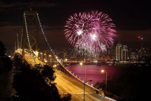 picture of san francisco fireworks on the 4th of July