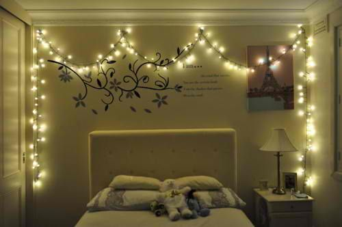 Give Your Bedroom A Magical Makeover With Christmas Lights SF - Christmas lights on bedroom wall