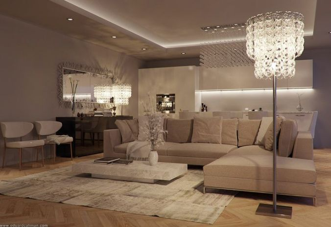 accent lighting on ceiling for home decor