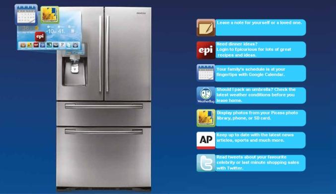 SAMSUNG tech savvy refrigerator