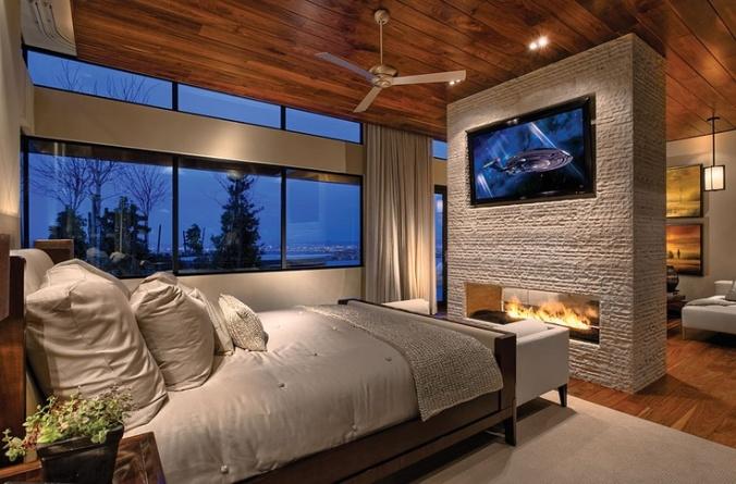 Luxury Bedroom Fireplace