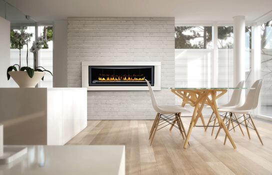 Kitchen and Dining room Fireplace
