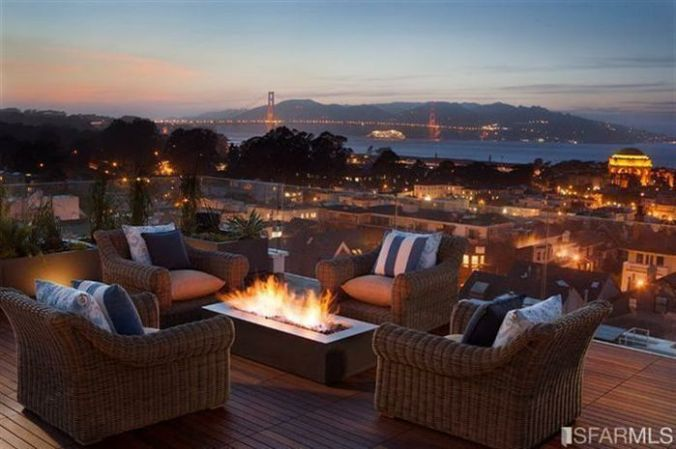 Roof top deck with Golden Gate Views