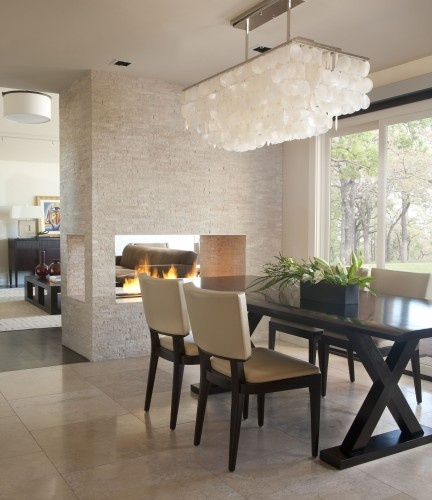 Dining Room and  Living Room Fireplace